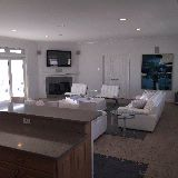 open plan living room with ocean & bay views ! 2nd floor, with flanking dual master bedroom suites
