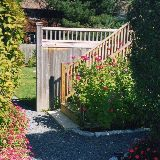 Walkway into garden at GHH